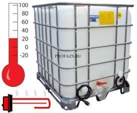 Еврокуб 1000 литров, два подогрева