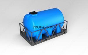 Емкость H 3000 литров в обрешетке