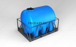 Емкость H 5000 литров в обрешетке