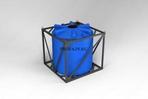 Емкость ЭВЛ 5000 литров в обрешетке