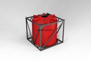 Емкость КАС 5000 литров ЭВЛ в обрешетке