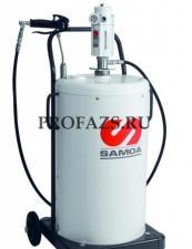 Мобильный пневматический солидолонагнетатель с насосом PM 3+3 с подставкой для бочек 50 кг