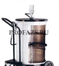 Мобильный пневматический солидолонагнетатель с насосом PM3 для бочек 185 кг