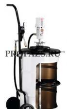 Мобильный пневматический солидолонагнетатель с насосом PM3 с тележкой для бочек 50 кг
