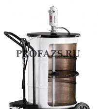 Мобильный пневматический солидолонагнетатель с насосом PM3+3 для бочек 185 кг