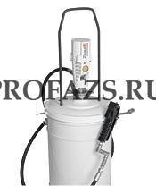 Пневматический солидолонагнетатель с насосом PM3 для ведер 12,5 - 18 кг, след. пластина в компл.