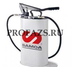 Насос с овальной емкостью для консистентной смазки объемом 16 л с регулируемым давлением