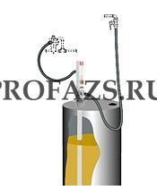 Комплект для откачки масла из бочки 205 л с насосом PM2, коэф. сжатия 3:1, монтаж на бочку