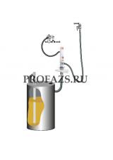 Комплект для откачки масла из бочки 205 л с насосом PM2, коэф. сжатия 3:1, монтаж на стену