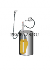 Комплект для откачки масла из бочки 205 л с насосом PM4, коэф. сжатия 3:1, монтаж на бочку