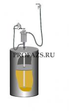 Комплект для раздачи консистентной смазки с насосом PM 3+3 для бочек 185 кг